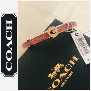 "Coach Jewelry - 🆕Coach Pink ""Glitter"" Bangle"